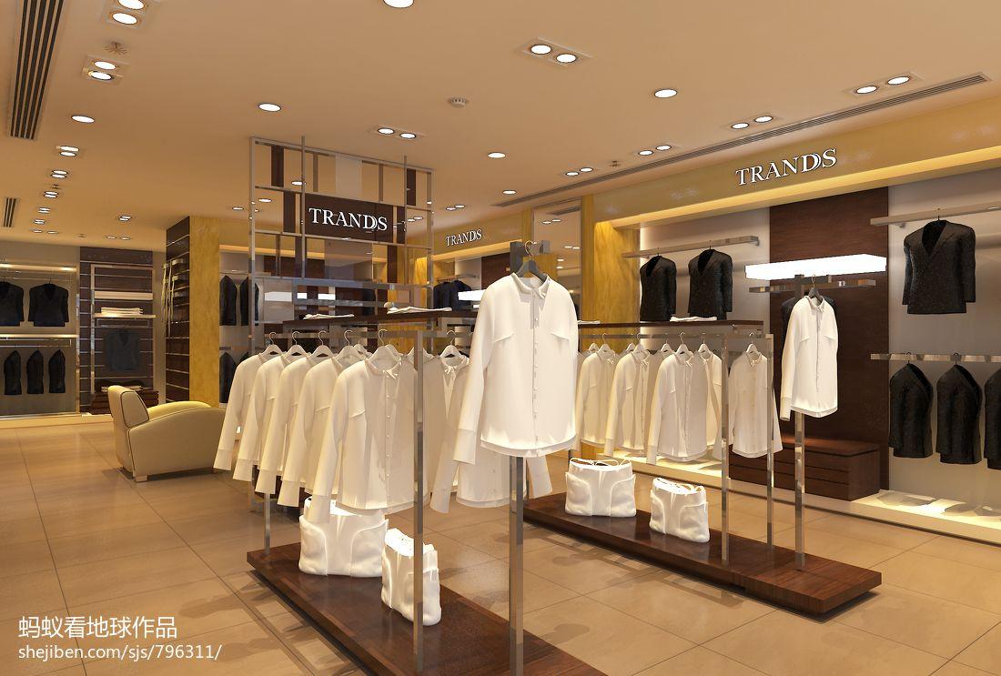 简约服装店铺装修效果图设计图片赏析