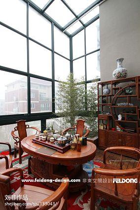 热门142平米美式别墅阳台欣赏图片大全