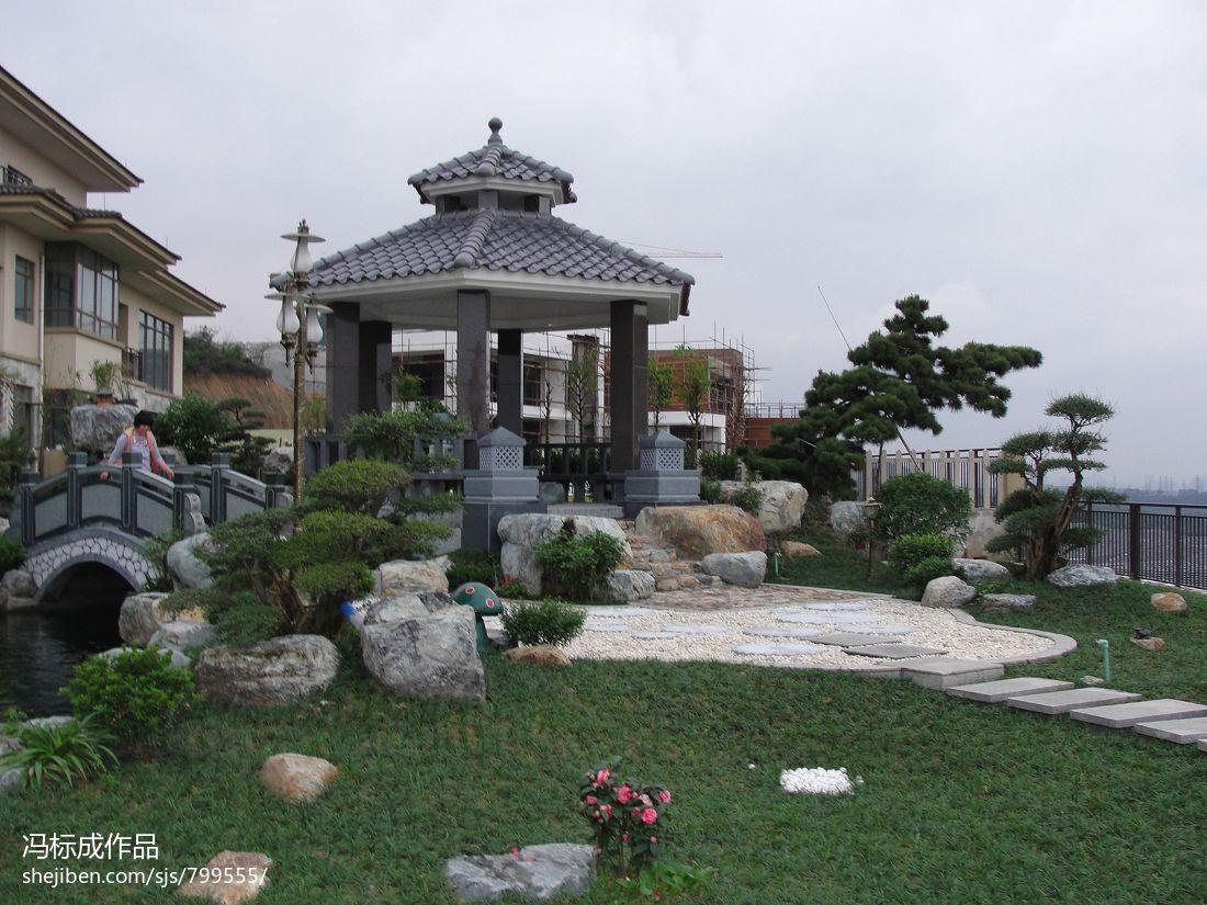 别墅现代清新风花园设计效果图