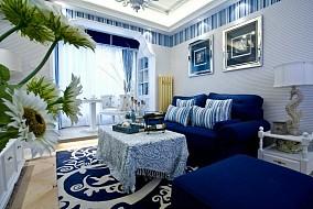 96平米三居客厅地中海实景图片