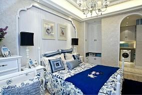 精美面积104平地中海三居卧室装修图