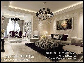 个性欧式白色客厅