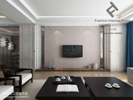 2018精选92.8平米3室客厅混搭装修实景图片大全家装装修案例效果图