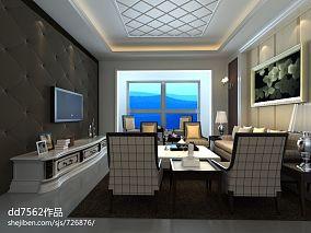 精选70平米美式小户型休闲区装修实景图