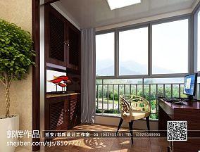 热门面积95平混搭三居阳台装饰图片大全
