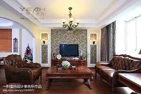 面积127平别墅客厅混搭装修实景图片