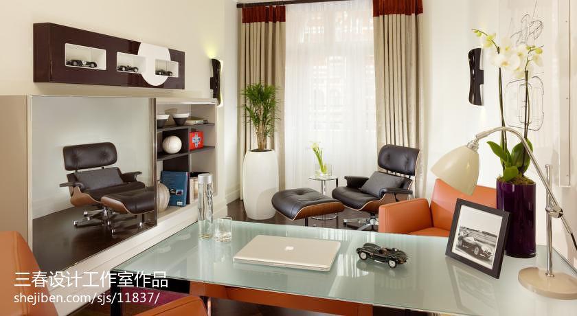 后现代小书房装修效果图大全2013图片设计图片赏析