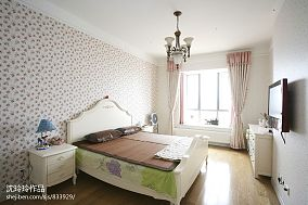 田园风卧室床头背景墙装修效果图