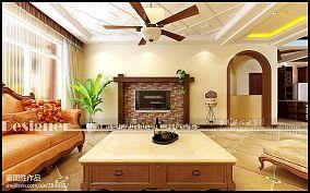 热门93平米3室客厅混搭装修实景图