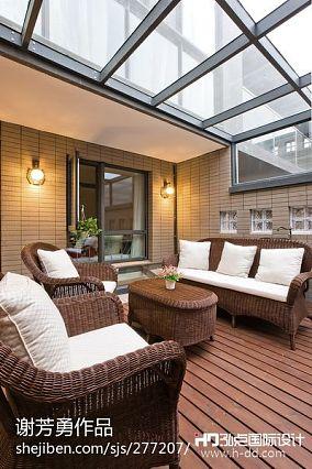 精美面积78平现代二居阳台装修图片