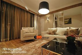 现代简约风格客厅窗帘装修效果图欣赏