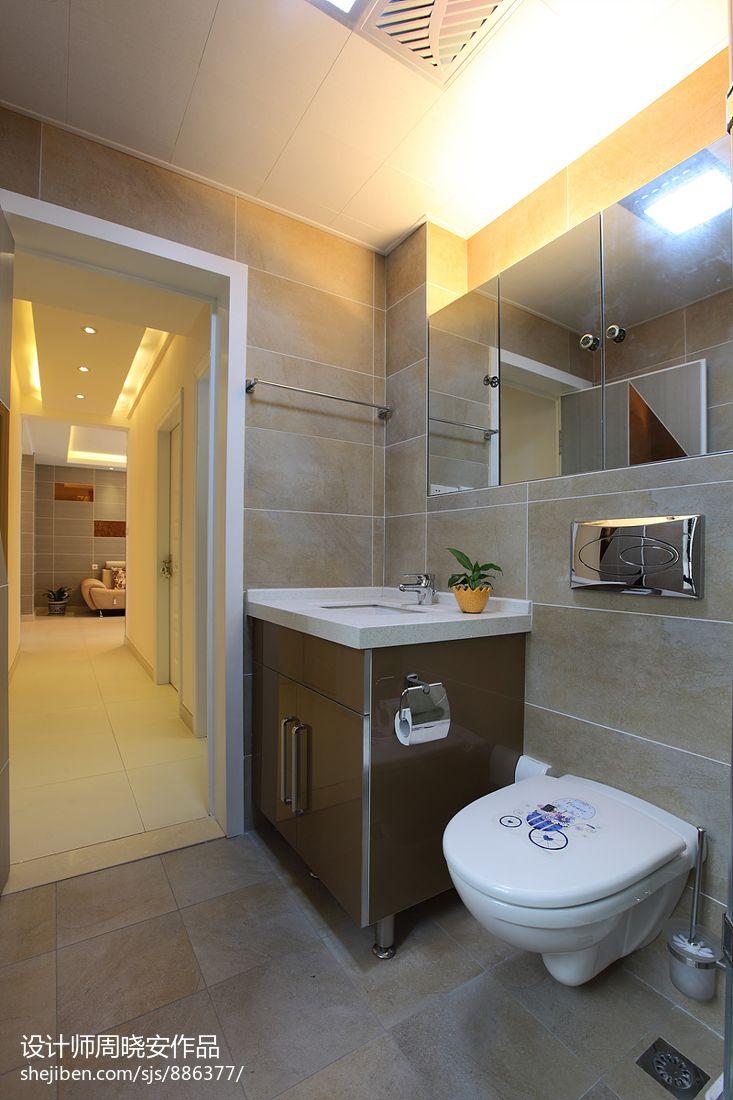 简约风卫生间洗手台效果图