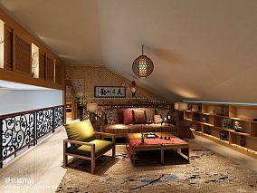 122平米中式别墅休闲区装修设计效果图片欣赏