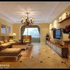 质朴130平地中海四居客厅装潢图