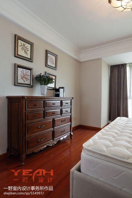 双湖湾现代美式卧室橱柜设计装修效果图卧室