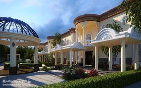田园欧式风格别墅客厅设计装修效果图
