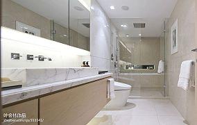 热门面积126平现代四居卫生间效果图片欣赏