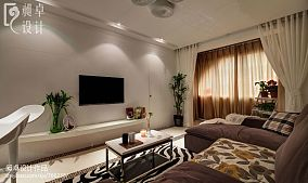 现代风客厅电视墙效果图片
