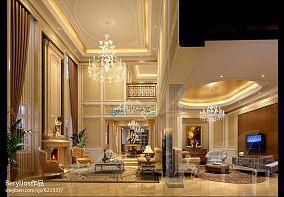热门面积131平别墅客厅混搭装修图