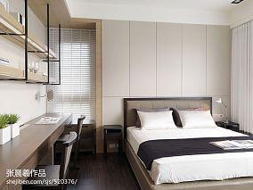 热门105平米三居卧室现代装修效果图片
