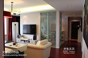 小户型客厅电视机背景墙隔断墙效果图