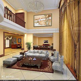 美式别墅真石漆墙面图片