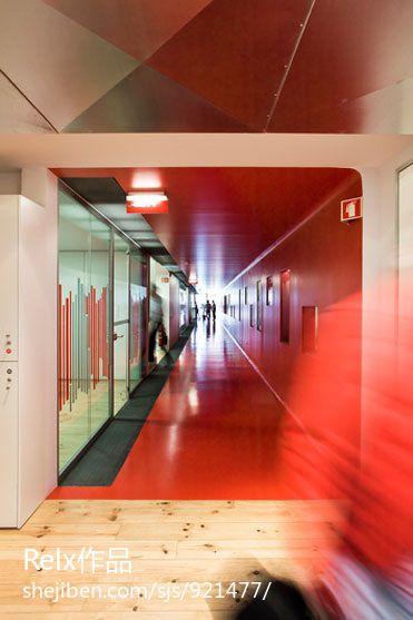 办公室走廊装修设计图设计图片赏析