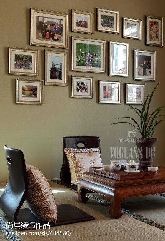 中式榻榻米照片墙图片客厅其他客厅设计图片赏析