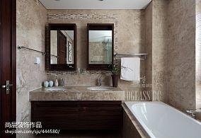 中式风格卫生间瓷砖装修效果图