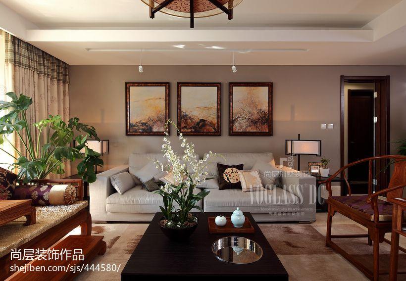 中式风格客厅布沙发茶几图片欣赏功能区其他功能区设计图片赏析