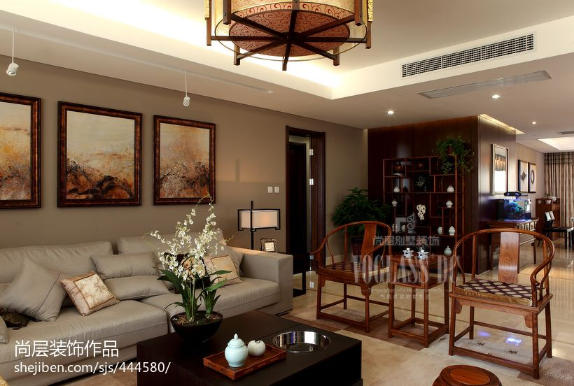 中式风格客厅沙发椅子摆放图片功能区3图其他功能区设计图片赏析
