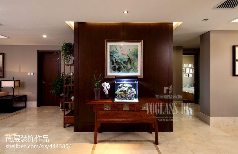 中式风格家庭储物柜隔断墙效果图欣赏功能区其他功能区设计图片赏析