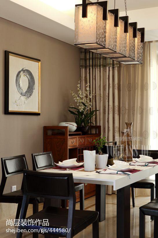 中式风格餐厅吊灯功能区其他功能区设计图片赏析