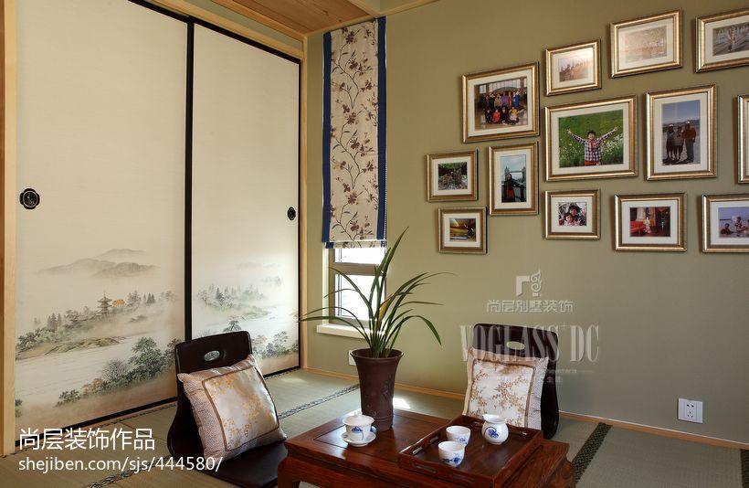 中式风格榻榻米照片墙效果图卧室其他卧室设计图片赏析