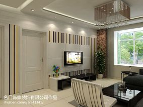 精美100平米三居客厅混搭实景图