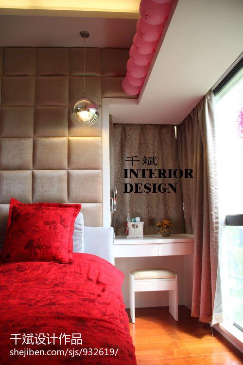 热门106平米三居卧室混搭装修实景图片欣赏
