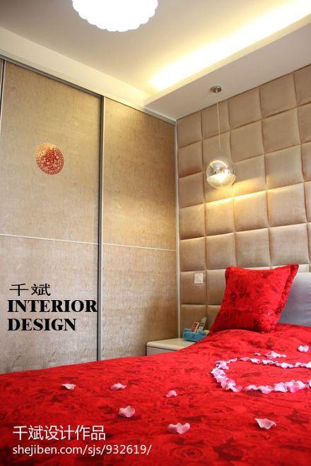平方三居卧室混搭装修效果图片欣赏