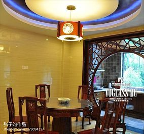 餐厅吊顶 中式复式楼装修效果图