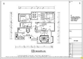 115平现代三居装修效果图