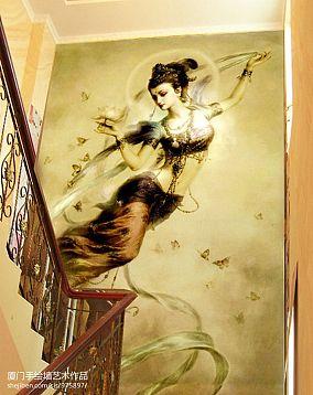 新古典手绘墙面装修效果图