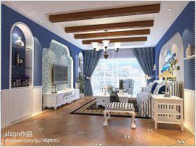 精选104平米3室客厅混搭装修设计效果图片大全