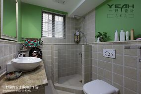 美式卫生间隔断效果图卫生间潮流混搭设计图片赏析