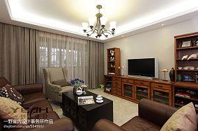 热门面积98平混搭三居客厅装修实景图