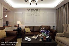 精美108平大小客厅三居混搭装修效果图片