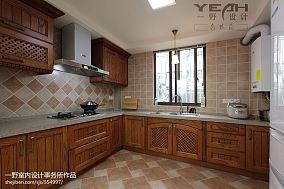 悠雅97平混搭三居厨房装修设计图