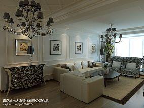 热门93平米3室客厅混搭装修实景图片欣赏