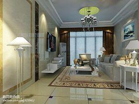 美式别墅客厅轻钢龙骨吊顶装修