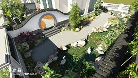 精美137平米中式别墅花园装饰图片欣赏功能区中式现代设计图片赏析