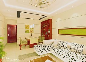 现代室内墙面乳胶漆效果图