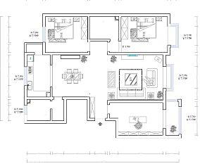 设计感三室二厅房屋图片